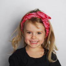 Headband Elle virevolte en tissu bio GOTS pour fillette. Création française (Aveyron)