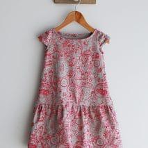Robe bulle de la boutique Elle virevolte Robes, jupes et accessoires en tissu bio GOTS pour fillette. Création française (Aveyron)