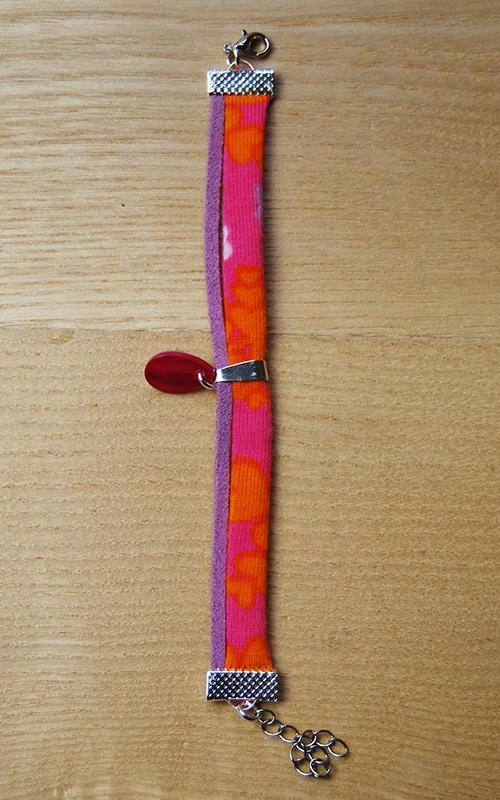 Bracelet de la boutique Elle virevolte Bandeaux et accessoires en tissu bio GOTS. Création française (Aveyron)