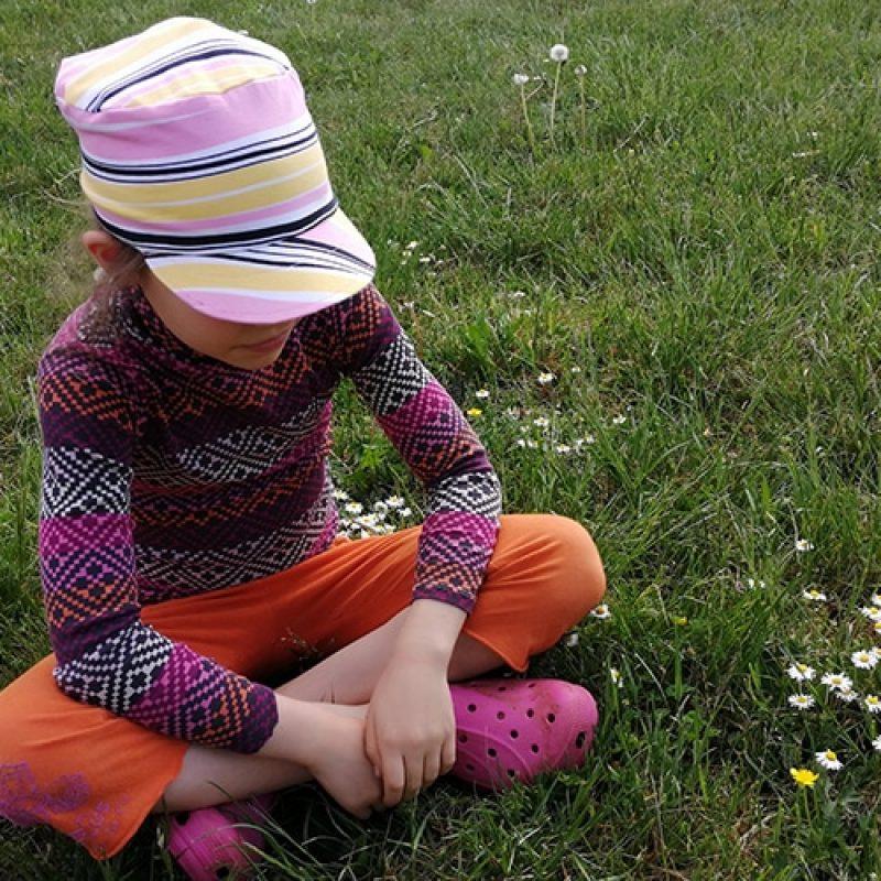 Casquette de la boutique Elle virevolte Robes, jupes et accessoires en tissu bio GOTS pour fillette. Création française (Aveyron)